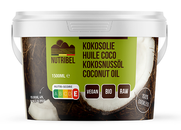 Nutridia Kokosolie geurloos bio 1500ml