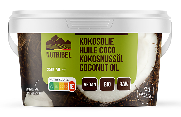 Kokosolie geurloos bio 2500ml